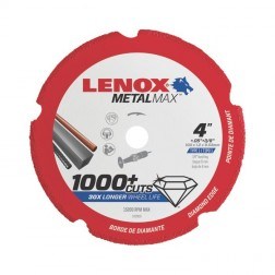 "Lenox METALMAX Cut-Off Wheel - 4"" Diameter, .050"" Thickness, ⅜"" Arbor, 1972919"