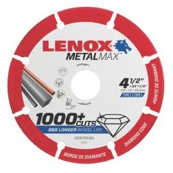 "Lenox METALMAX Cut-Off Wheel - 4.5"" Diameter, .050"" Thickness, ⅞"" Arbor, 1972921"